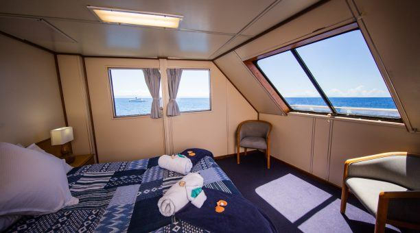 Your Top Deck Room is designed for comfort with extra space and daily turn down service