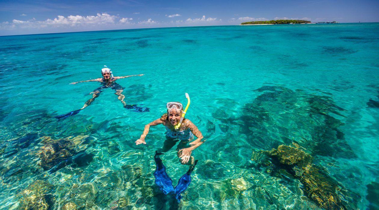 Snorkelling off Green Island